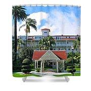Hotel Del Courtyard Shower Curtain
