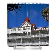 Hotel Del Courtyard View Shower Curtain
