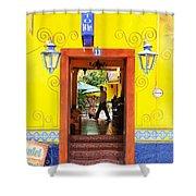 Hotel Estancia - Ajijic - Mexico Shower Curtain