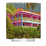 Hotel Jamaica Shower Curtain by Linda Bianic