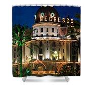 Hotel Negresco By Night Shower Curtain