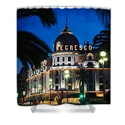 Hotel Negresco Shower Curtain by Inge Johnsson