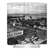 Hotel Pierre Dun Laoghaire 1958 Shower Curtain