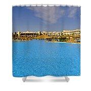 Hotel Resort Panorama Shower Curtain
