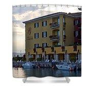 Hotel Sirmione. Lago Di Garda Shower Curtain