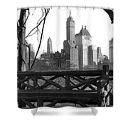 Hotels Seen From Central Park  Shower Curtain