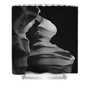 Hour Glass Bw Shower Curtain