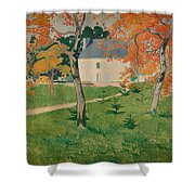 House Among Trees Shower Curtain