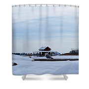 House And Bird Shower Curtain