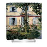 House At Rueil Shower Curtain