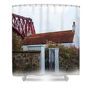 House At The Bridge Shower Curtain
