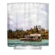 House Boat Shower Curtain