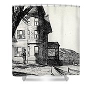 House By A River Shower Curtain by Edward Hopper