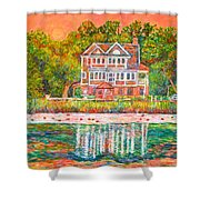 House By The Tidal Creek At Pawleys Island Shower Curtain