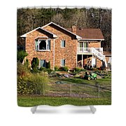 House From The Highest Point Shower Curtain
