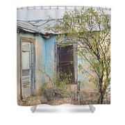 House In Ft. Stockton IIi Muted Shower Curtain