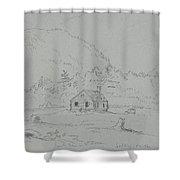 House In Mount Desert Shower Curtain