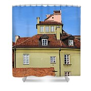 House In The Old Town Of Warsaw Shower Curtain by Artur Bogacki