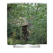 House In The Trees Shower Curtain