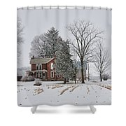 House In Winter Shower Curtain