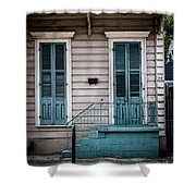 House Of Blue Doors Shower Curtain