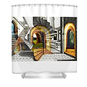 House Of Dreams Shower Curtain