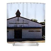 House Of Prayer Shower Curtain