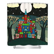 House Of The Crow Shower Curtain