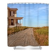 House On Rural Dirt Road Shower Curtain