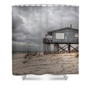 House On The Beach  Shower Curtain