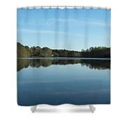 House On The Pond Shower Curtain