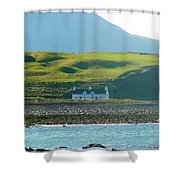 House On The Shore Shower Curtain