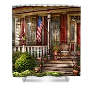 House - Porch - Belvidere Nj - A Classic American Home  Shower Curtain