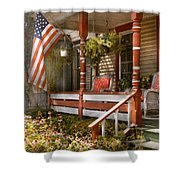 House - Porch - Traditional American Shower Curtain