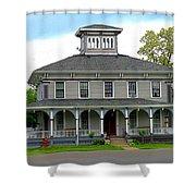 House Shower Curtain by Rhonda Barrett