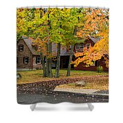 House Surrounded With Colors Shower Curtain