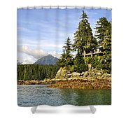 House Upon A Rock Shower Curtain