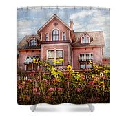 House - Victorian - Summer Cottage  Shower Curtain