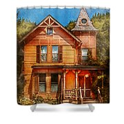 House - Victorian - The Wayward Inn Shower Curtain