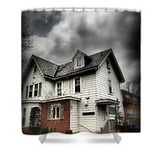 House With Brick Front - American Gothic Shower Curtain