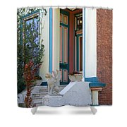 House With Griffin Lafayette Square St Louis Shower Curtain
