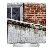 House With Shed 13122 Shower Curtain