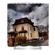 House With Storm Approaching Shower Curtain