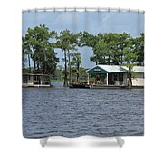 Houseboat - Atchafalaya Basin Shower Curtain