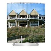 Houseboat Boathouse Shower Curtain