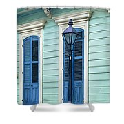 Houses Along A Street, French Quarter Shower Curtain