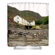 Houses At Kynance Cove Shower Curtain