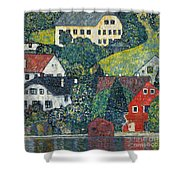 Houses At Unterach On The Attersee Shower Curtain