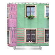Houses From The Outside Shower Curtain
