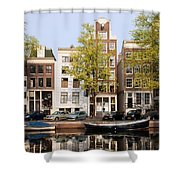 Houses In Amsterdam Shower Curtain